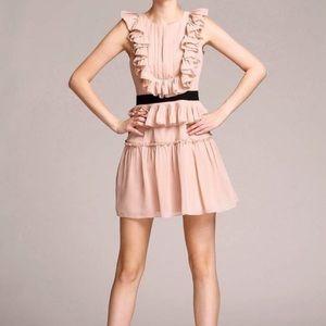 BcbgMaxAzria Britt Blush Nude Cutout back Dress 2